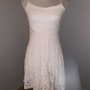 Abercrombie Lace Dress White